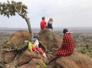 Zeppelin familie bij Masai, Kenia